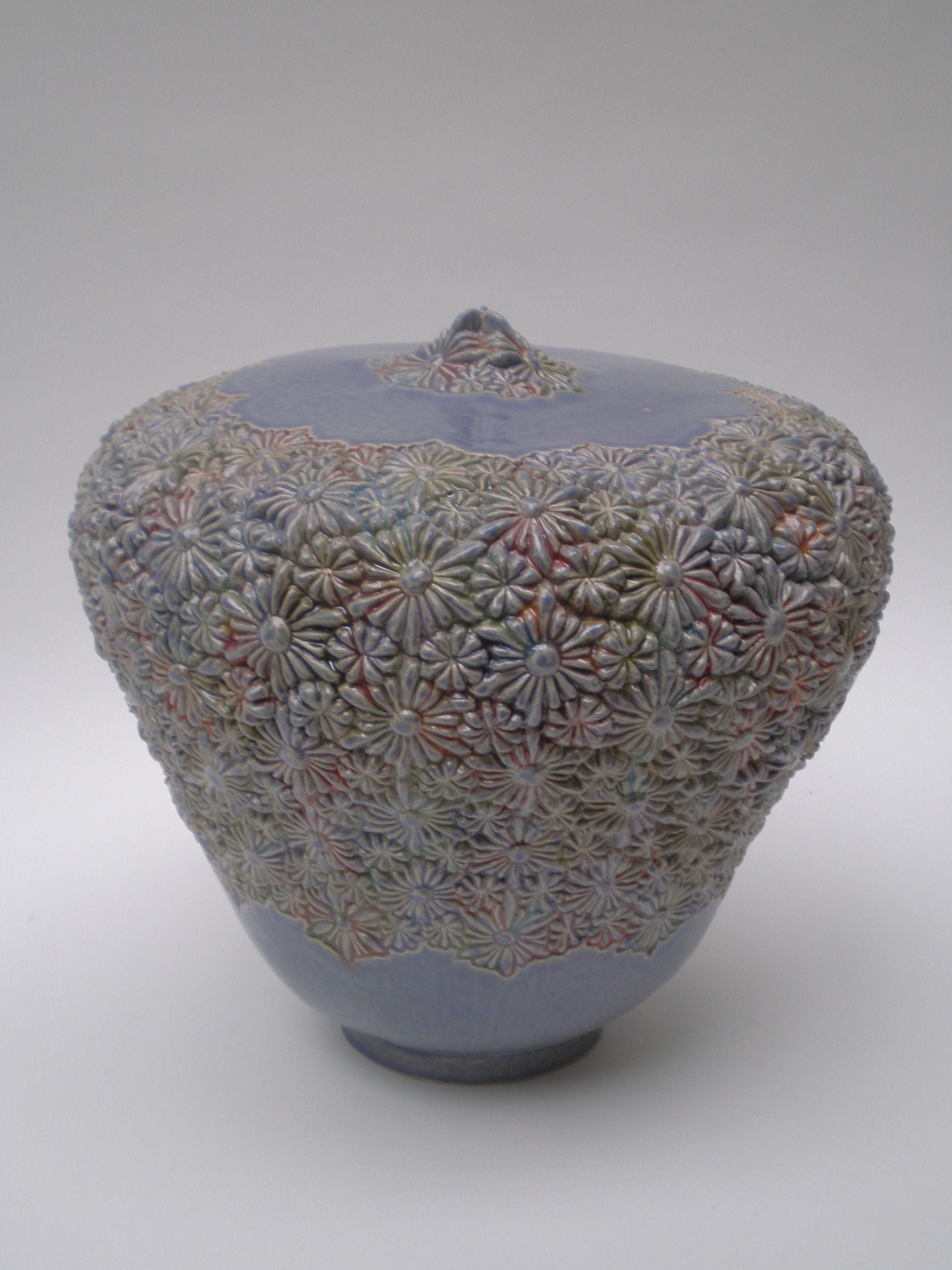bloemen urn paars
