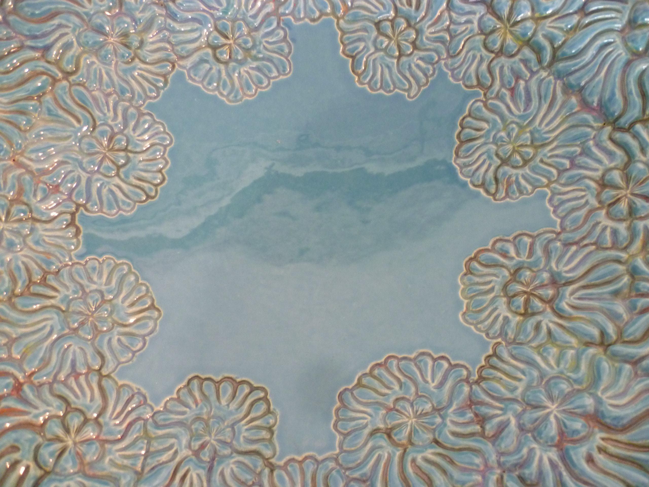grote bloemen schaal, detail